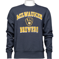 Image For '47 Brand Brewers Crew Neck Sweatshirt (Navy)