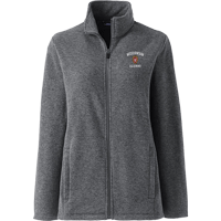 Image For Lands' End Outfitters WI Alumni Women's Full Zip (Gray)