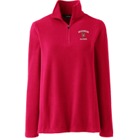 Image For Lands' End Outfitters WI Alumni Women's ¼ Zip (Red)