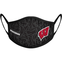 Image For Strideline Wisconsin Face Mask (Black)
