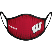 Image For Strideline Wisconsin Shield Face Mask (Red)