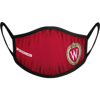 Image For Strideline Wisconsin Face Mask (Red)