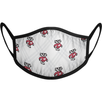 Image For Strideline Bucky Badger Face Mask (White)