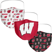 Image For Fan WI Badgers 3-Pack Face Masks (Preorder)