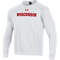 Image For Under Armour WI All Day Fleece Crew Sweatshirt (White) 3X *