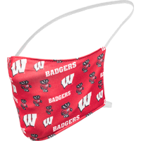 Image For Fan WI Badgers All Over Print Face Mask