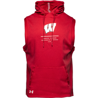 Image For Under Armour WI Campus Fleece Sleeveless Hoodie (Red) *