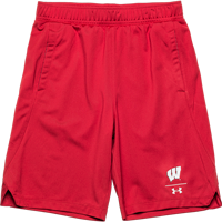 Image For Under Armour Youth WI Locker Shorts (Red) *