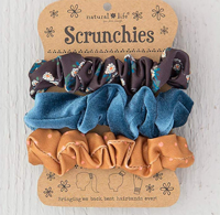 Image For Natural Life Scrunchie 3-Pack (Flower/Blue/Yellow) *