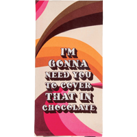 Image For Blue Q Dish Towel-Chocolate Lover *