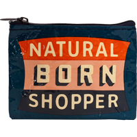 Cover Image For Blue Q Coin Purse-Natural Born Shopper *