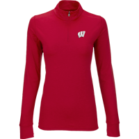 Image For Vantage Women's WI ¼ Zip Pullover (Red)