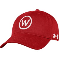 Image For Under Armour WI Circle W Garment Washed Hat (Red)