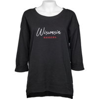 Image For UG Apparel WI Women's Waffle Top (Black)