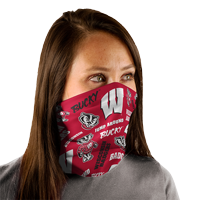 Image For WinCraft WI W Gaiter Fan Wrap (Red Allover Print)