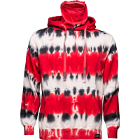 Image For ALMAR Private Label WI Tye Dye Hooded Sweatshirt (R/B/W)