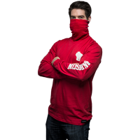 Image For ALMAR Private Label WI Gaiter Long Sleeve Tee (Red)