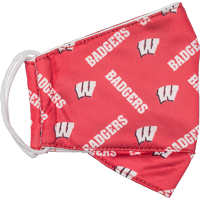 Image For Logo Brands Badgers Face Mask (Red)