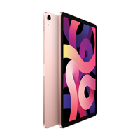 "Cover Image For Apple iPad Air 10.9"" 4th-Gen 256GB; Wi-Fi (Rose Gold)"
