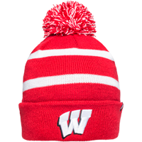 Image For '47 Brand WI Cuffed Beanie (Red/White) *