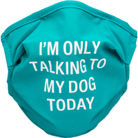 Image For About Face Designs Only Talking to Dog Face Mask (Teal)