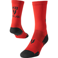 Image For Iron Joc Ron Dayne Performance Crew Socks (Red)