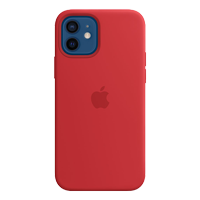 Image For Apple iPhone 12/Pro Silicone Case with MagSafe (PRODUCT Red)