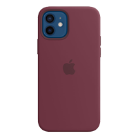 Image For Apple iPhone 12/Pro Silicone Case with MagSafe (Plum)