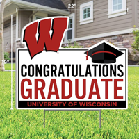 Image For CDI Congrats Grad Wisconsin Lawn Sign