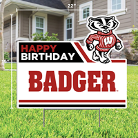 Image For CDI Happy Birthday Badger Lawn Sign