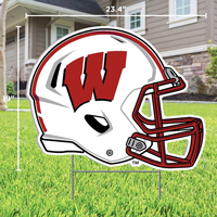 Image For CDI Wisconsin Football Helmet Lawn Sign