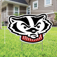 Image For CDI Bucky Badger Lawn Sign