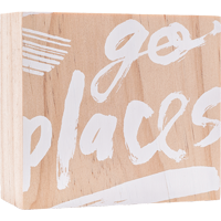 Image For Here and There Go Places Wooden Sign *