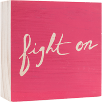 Image For Here and There Fight On Wooden Sign *