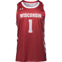 Image For Under Armour Wisconsin Basketball Jersey (Red) *
