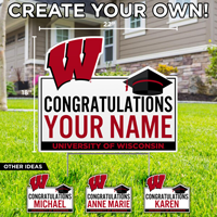 Cover Image For CDI Name Graduation Lawn Sign