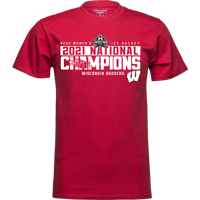 Image For 2021 Women's Hockey National Champions T-Shirt (Red)