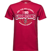 Image For 2021 Women's Volleyball Big 10 Champions T-Shirt (Red)