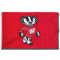 Cover Image For University Blanket & Flag Decorative Bucky Badger Flag (Red)