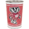 Image for WinCraft Wisconsin Badgers Tapered Wastebasket