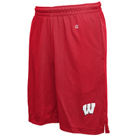 Image For Champion Wisconsin Badgers Mesh Shorts (Red)