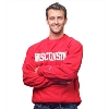 Champion Wisconsin Reverse Weave Crew Neck Sweatshirt (Red) Image
