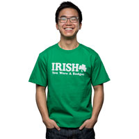 "Image For Champion ""IRISH"" You Were A Badger T-Shirt (Green)"