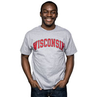 Cover Image For Champion Arch Wisconsin T-Shirt (Gray)