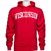 Cover Image for Under Armour WI Badgers Fleece Hooded Sweatshirt (Gray) *