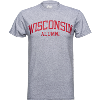 Image for Blue 84 Wisconsin Alumni T-Shirt (Gray)