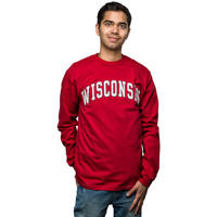 "Image For Blue 84 Long Sleeve Shirt ""Wisconsin"" T-Shirt (Red)"