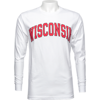 "Cover Image For Blue 84 Long Sleeve ""Wisconsin"" T-Shirt (White)"