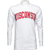 """Cover Image for Blue 84 Long Sleeve Shirt """"Wisconsin"""" T-Shirt (Red)"""