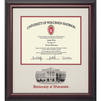 Image For Alumni Artwork Diploma Frame-Bascom *